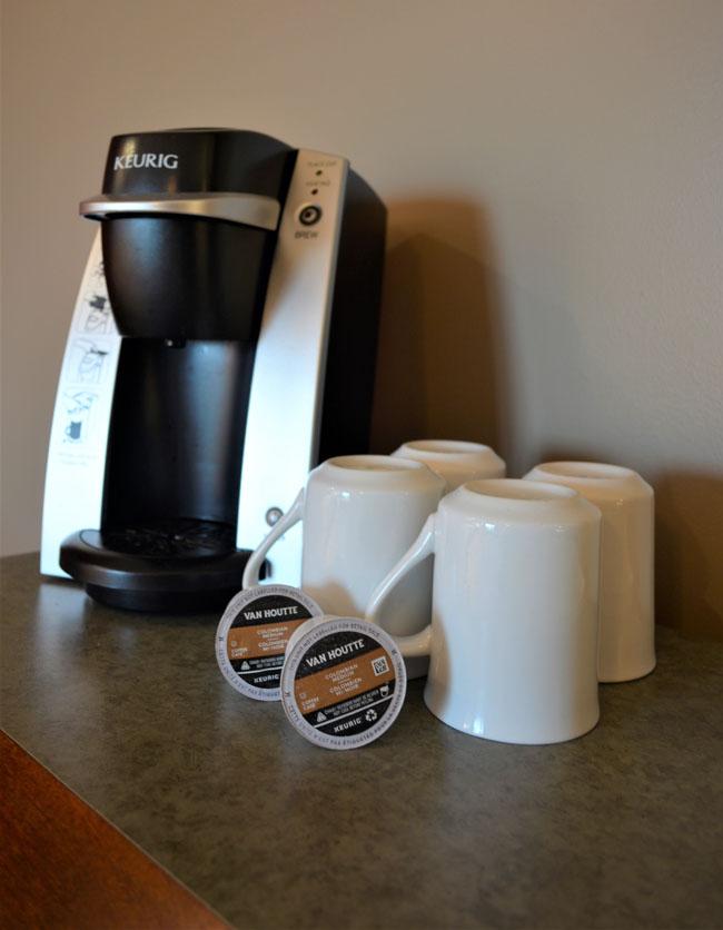 Café Keurig dans toutes les chambres