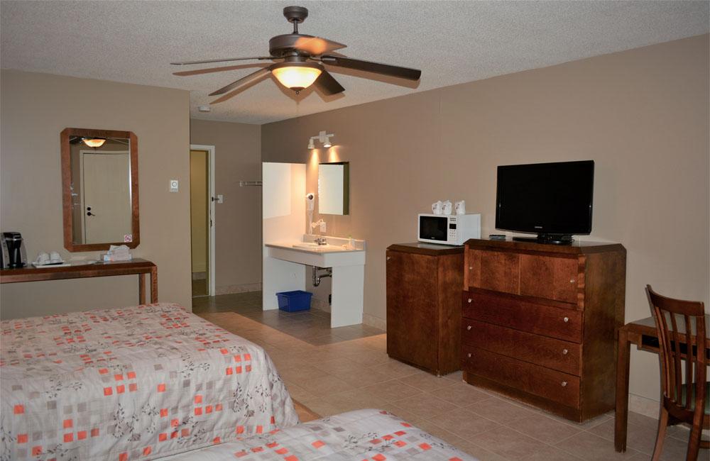 Chambres intérieures Motel 4 saisons