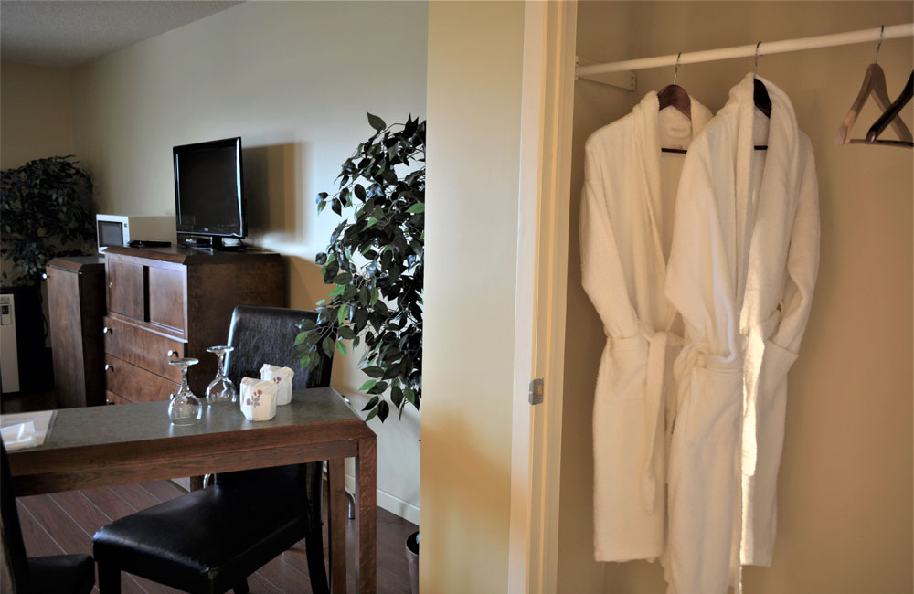 Robes de chambres dans mi-suite